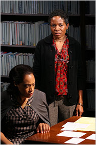 Cherise Boothe, seated, and LisaGay Hamilton in Adrienne Kennedy's